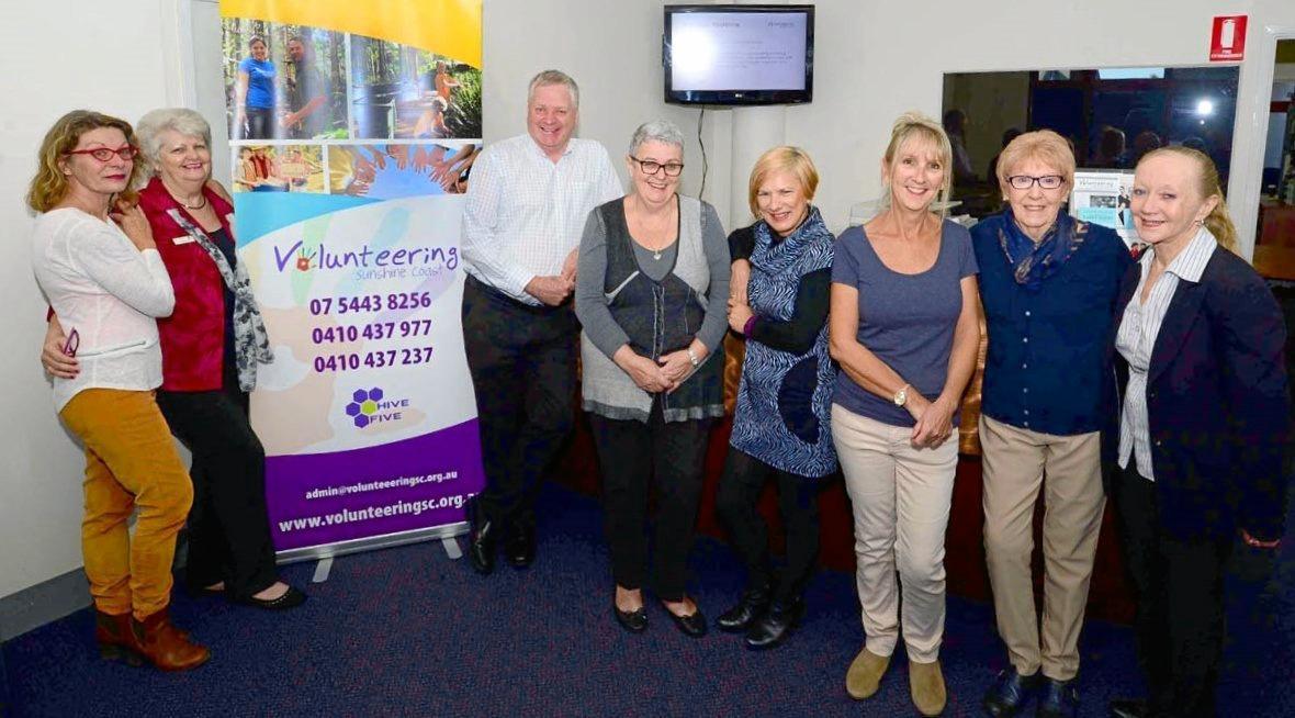 Menlanie Hodge (far right) with the Volunteering Sunshine Coast team.