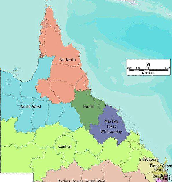 Boot Brisbane has always included Central Queensland in the New State. In the map above it includes Far North, North, North West, Mackay, Isaac and Central. This area gives the new state a population of about one million.