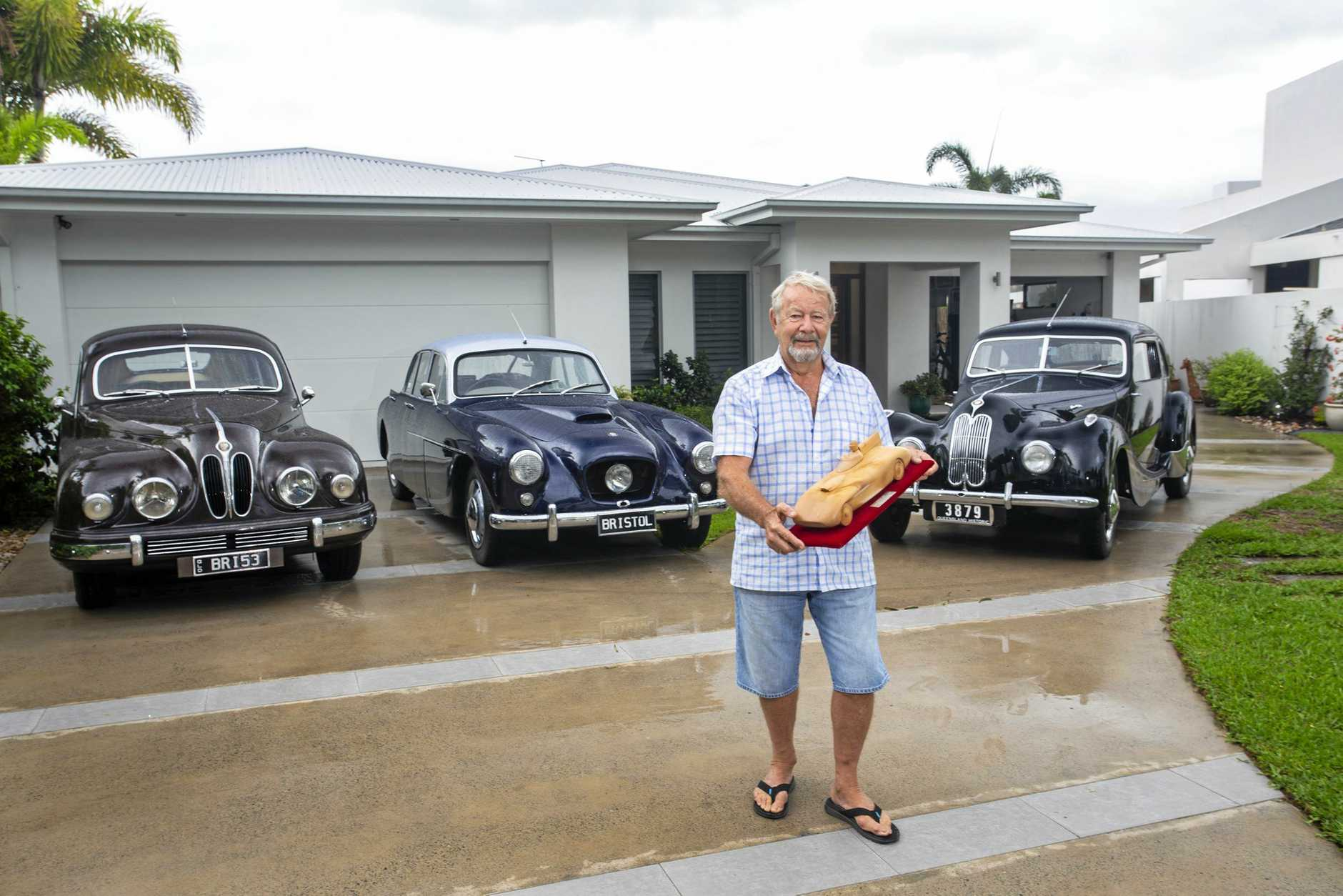 Noosa's Rob van Wegen who owns three Bristols: a 1948 400, a 1953 403 and a 1954 405.