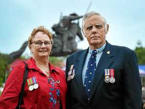 War medals a display of history at Hervey Bay dawn service