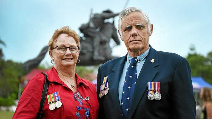 War medals a display of history at Hervey Bay dawn service