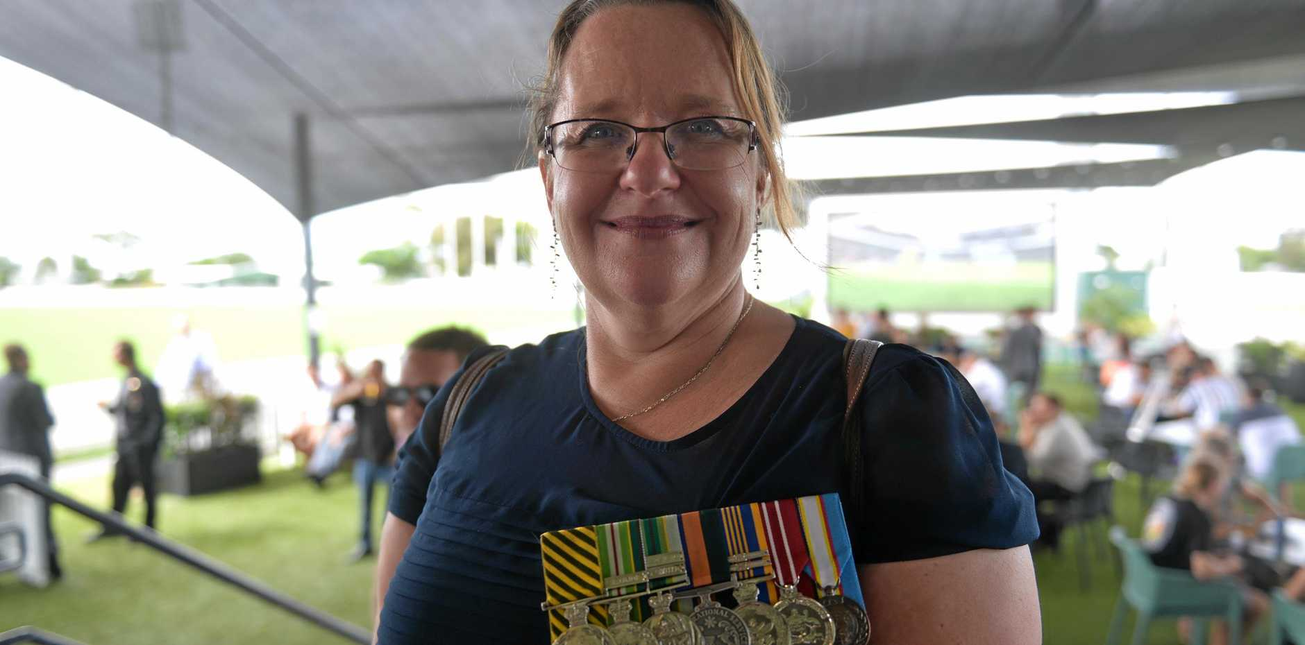PEACE KEEPER: Kerry Summerscales' first Anzac Day commemoration in Mackay.