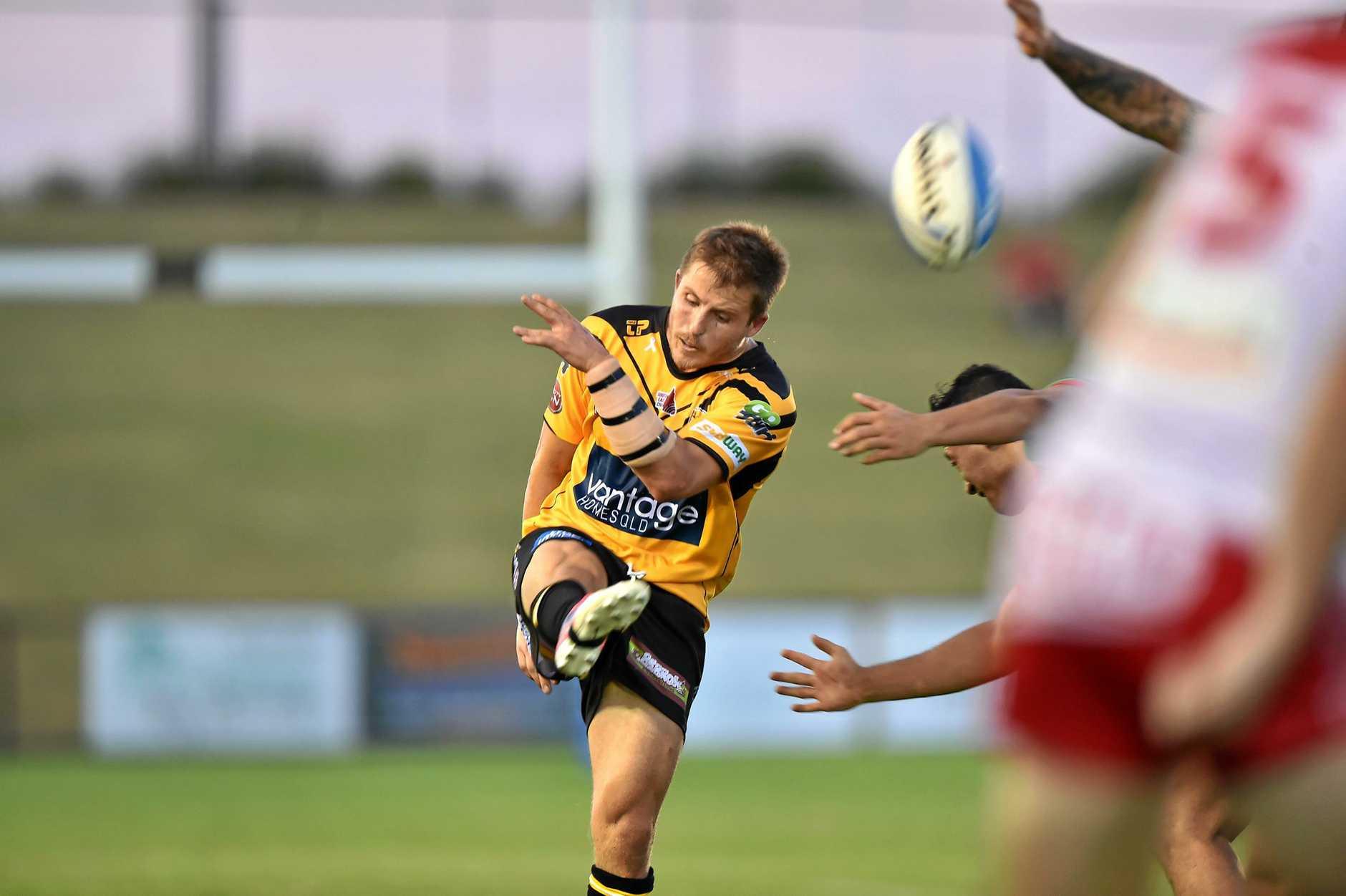 Rugby League: Sunshine Coast Falcons V Wynnum. Falcon's Todd Murphy.