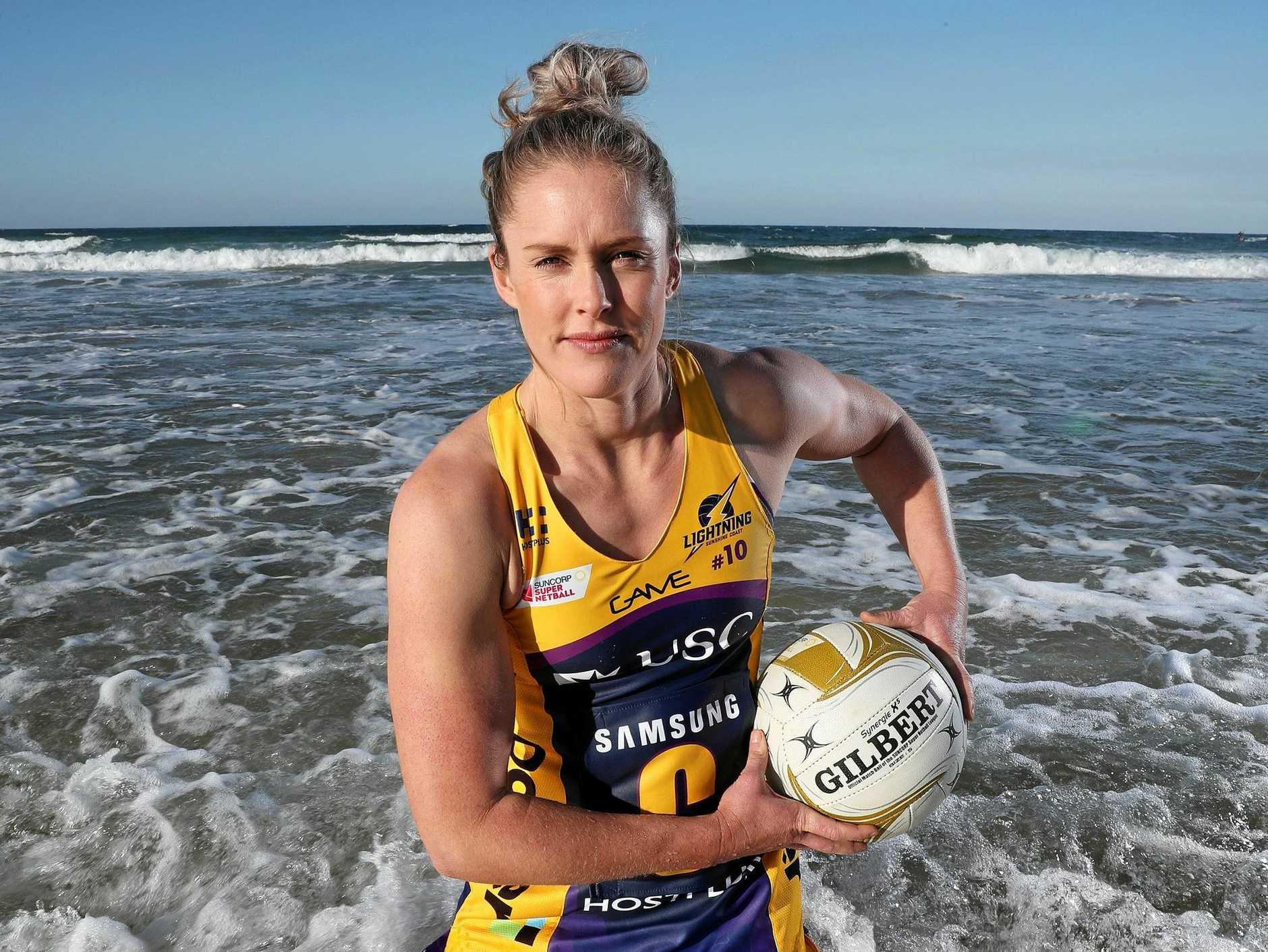 Sunshine Coast Lightning player Laura Scherian.