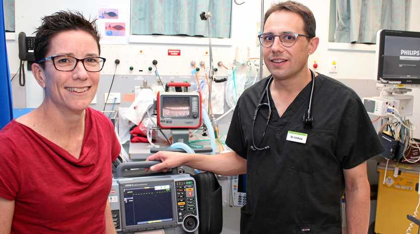 LIFE SAVERS: Toowoomba Hospital emergency specialist Dr Katie Mills delivered the EMET advanced life support refresher course which Dr Lindsay Haase says is a key factor in saving lives.