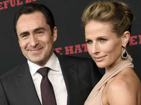 Demian Bichir and his wife Stefanie Sherk.  Picture:  AP