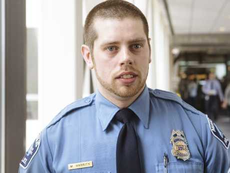Minneapolis Police Officer, Matthew Harrity. Picture: Angus Mordant