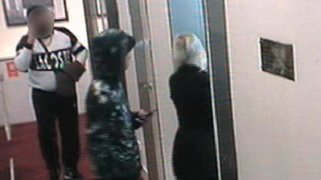 CCTV footage from the day of the alleged rape of a 22-year-old woman was played to a jury in court.