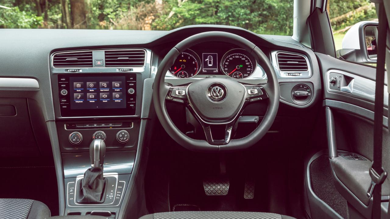 The Golf has the roomiest rear seats of the trio. Photo: Thomas Wielecki.