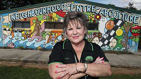 Lesley McConnell is a teacher turned domestic and family violence counsellor, who runs programs for dads/offenders at the Caboolture Neighbourhood Centre. Picture: Annette Dew