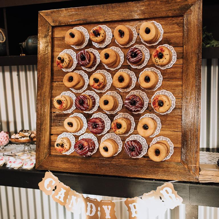 A whole wall of doughnuts. Picture: www.beherebenow.com.au