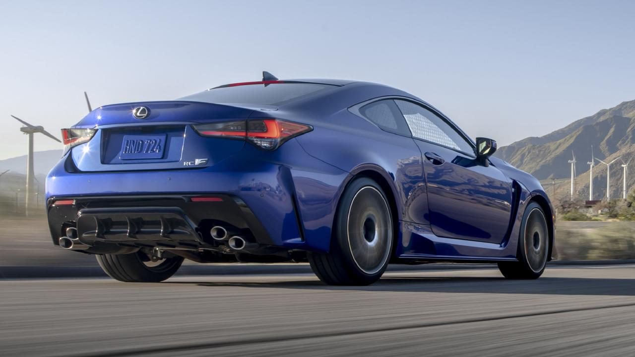 The Lexus RC F is cheaper than the previous model.