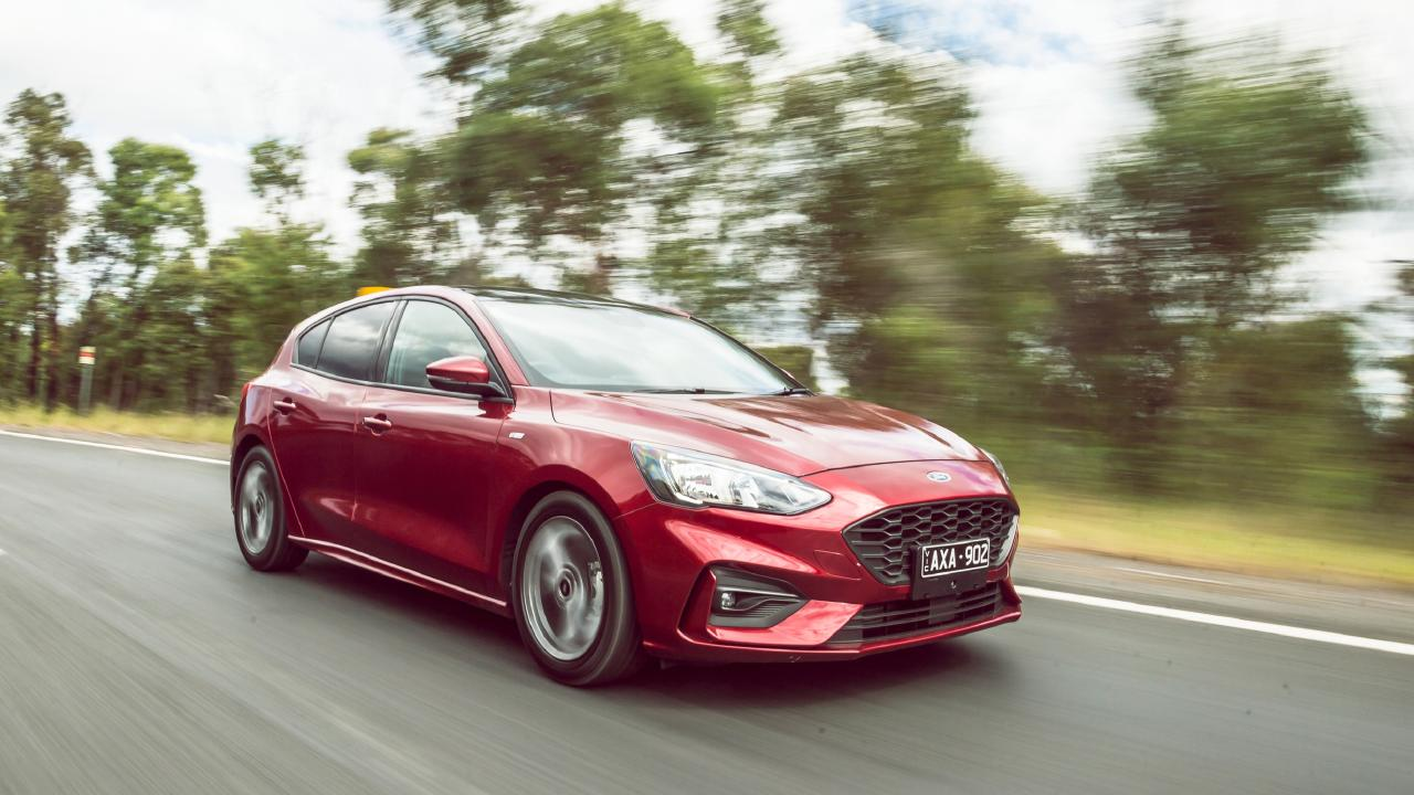 The Focus ST-Line straddles the line between hot hatch and a regular small car. Photo: Thomas Wielecki.