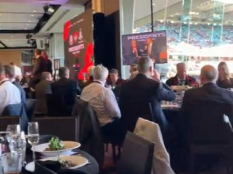 Jane Clifton took this footage during the lunch at the MCG. Vision: Instagram/cliffotoo