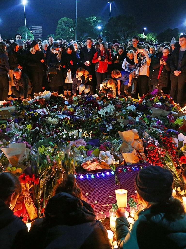Eurydice Dixon vigil. Picture: Michael Dodge/Getty
