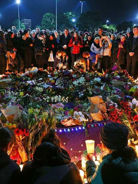 Eurydice Dixon vigil. Picture: Michael Dodge/Getty