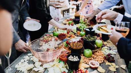 The vegan menu was a huge hit with guests. Picture: www.beherebenow.com.au