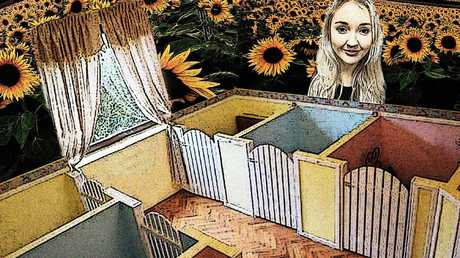 A giant mural of Toyah Cordingley will be a centrepiece of a new Paws and Claws puppy shelter at Port Douglas to be built with a $500,000 grant from the Morrison Government. PICTURE: SUPPLIED