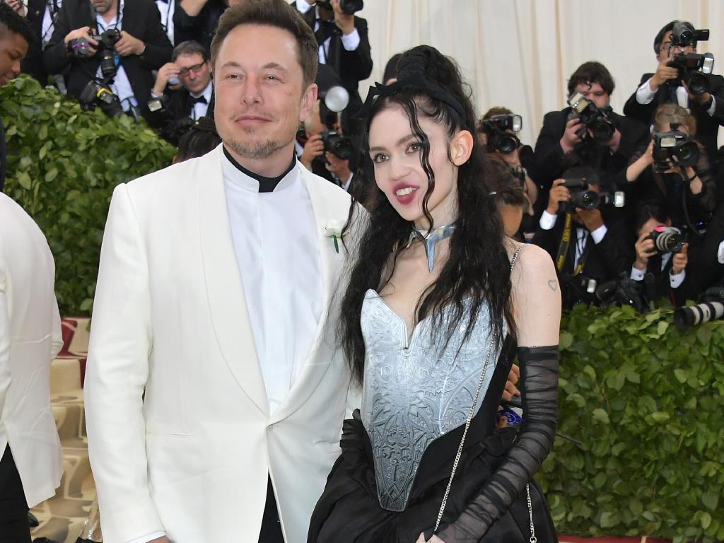 Elon Musk and Grimes at the Met Ball in 2018. Picture: Neilson Barnard/Getty Images
