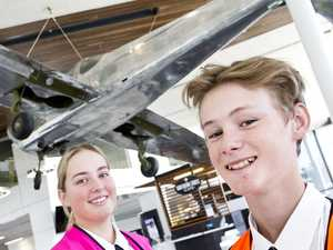 Tourism students visit airport