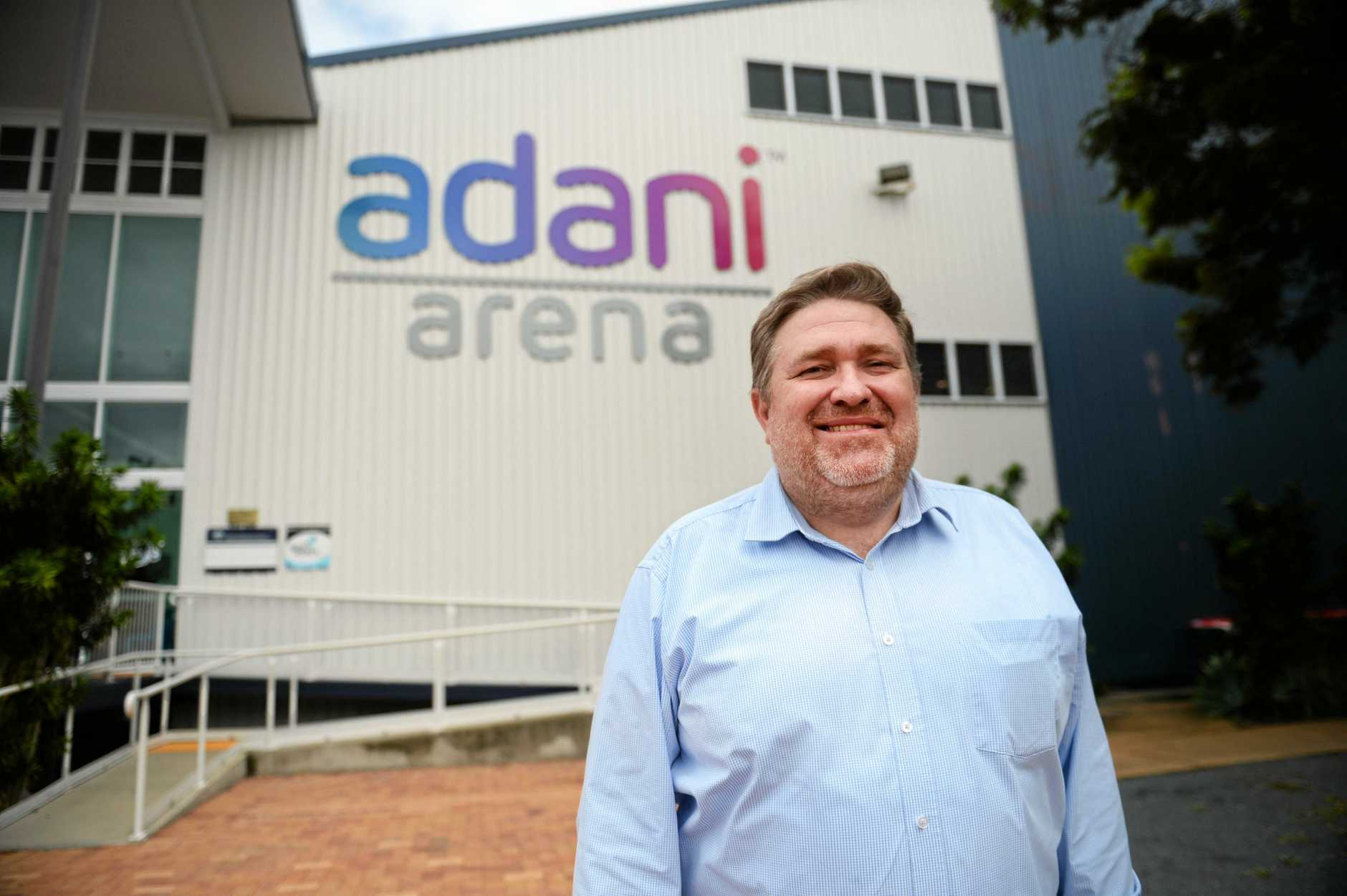 PARTNESHIP: Adani Mining CEO Lucas Dow at the newly renamed Adani Arena was excited to announce a new partnership with Rockhampton Basketball.
