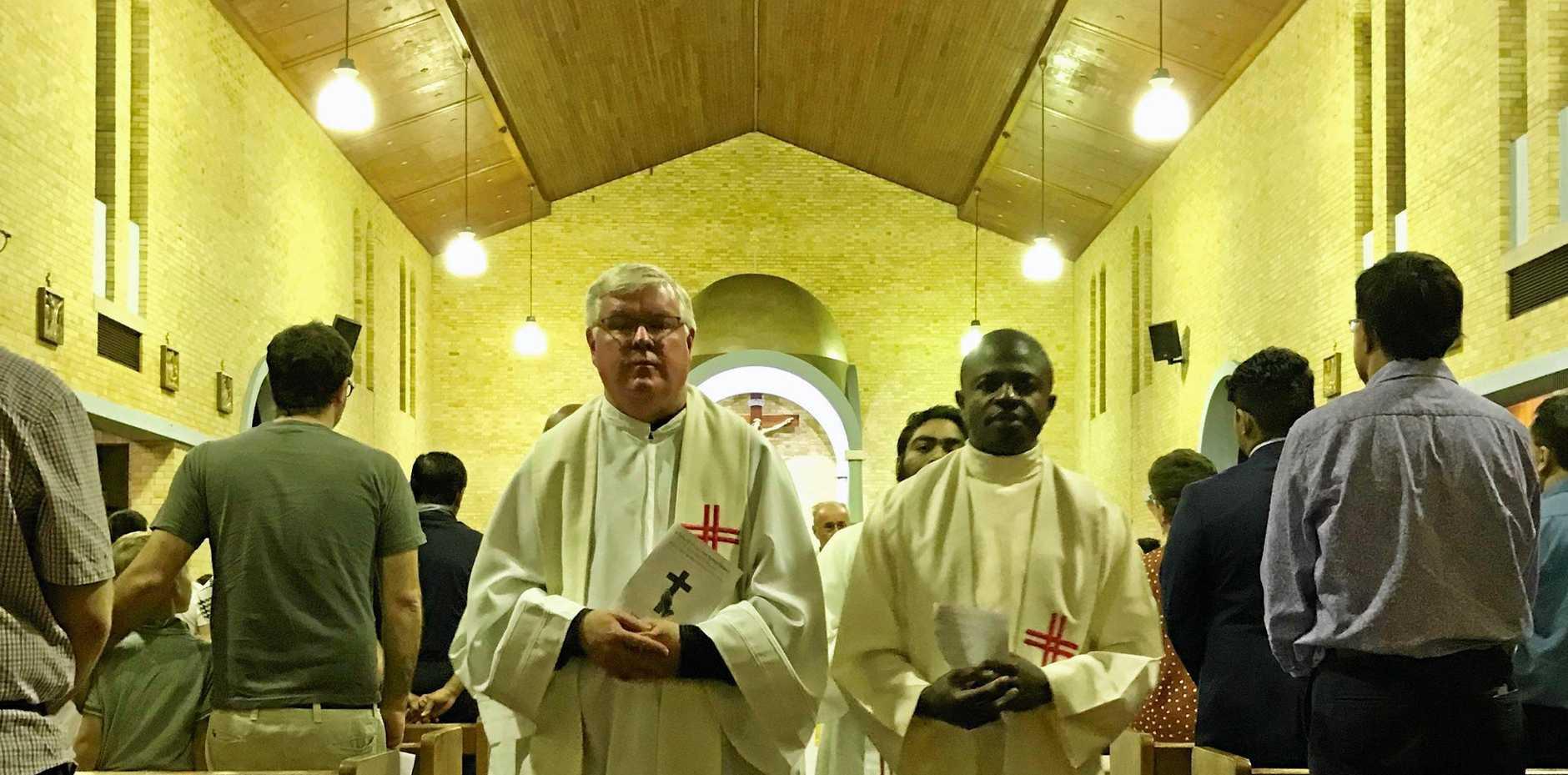 Friar Stephen Hanly and Friar James Ezeucha.