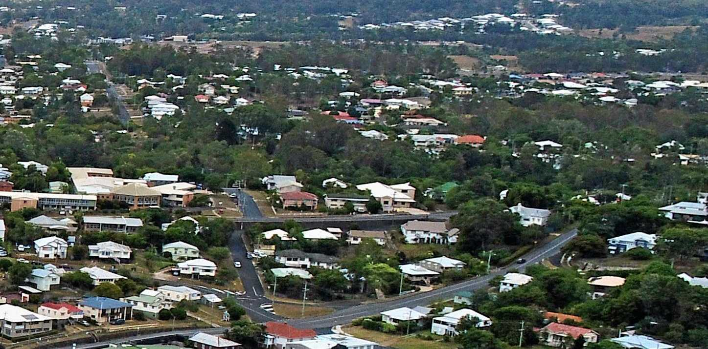 Drone photo of Gympie