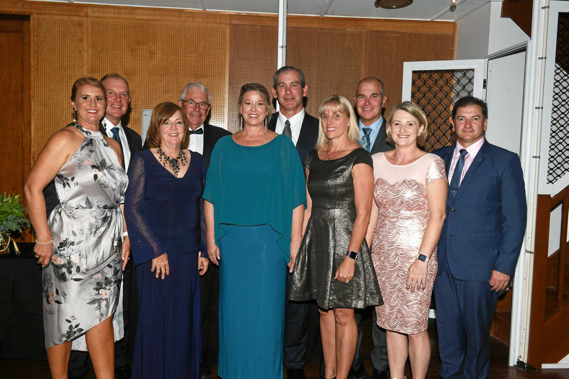 Gympie Show Ball - Tony and Michelle Perrett, Graham and Margret Engeman, Sue and Mick Curren, Correne and Bob Leitch, Sharon and Llew OBrien
