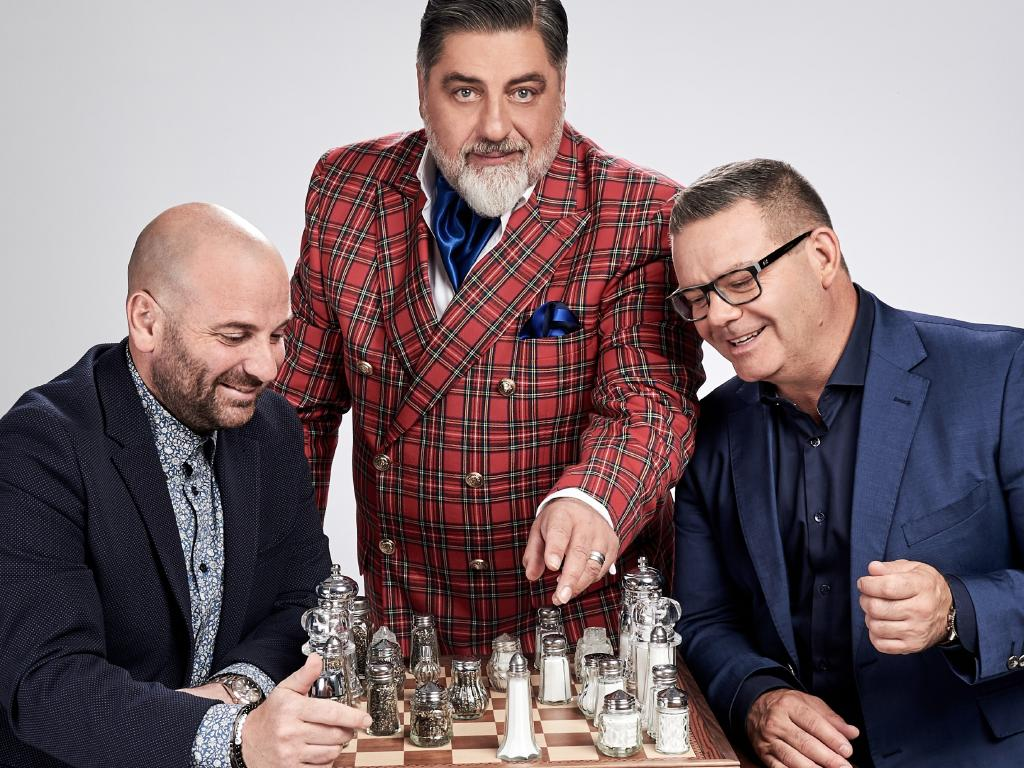 George Calombaris, Matt Preston and Gary Mehigan are judges on Ten's MasterChef Australia. Picture: Tina Smigielski