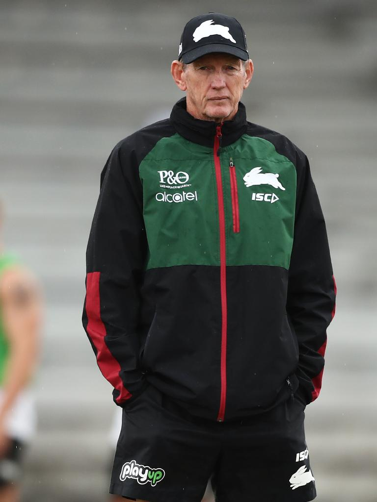 Wayne Bennett as Rabbitohs coach in Feb this year. Picture: Matt King/Getty Images