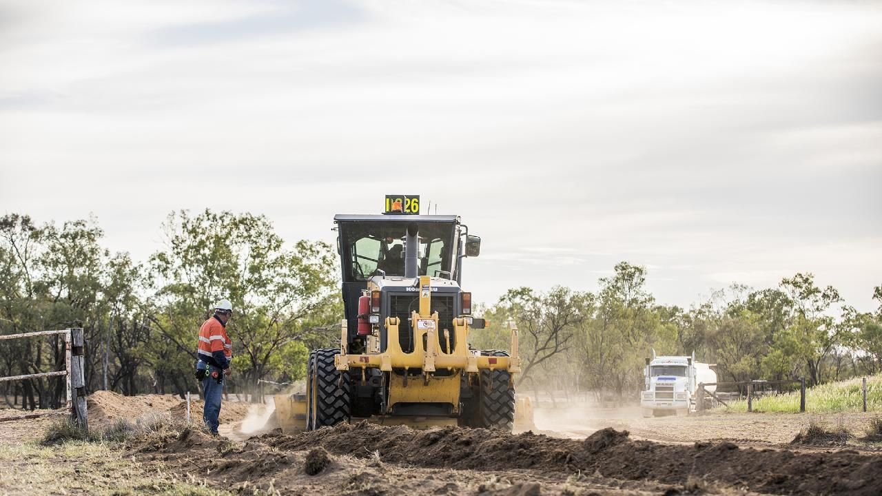 Roadworks have started for Adani Carmichael coal mine project.