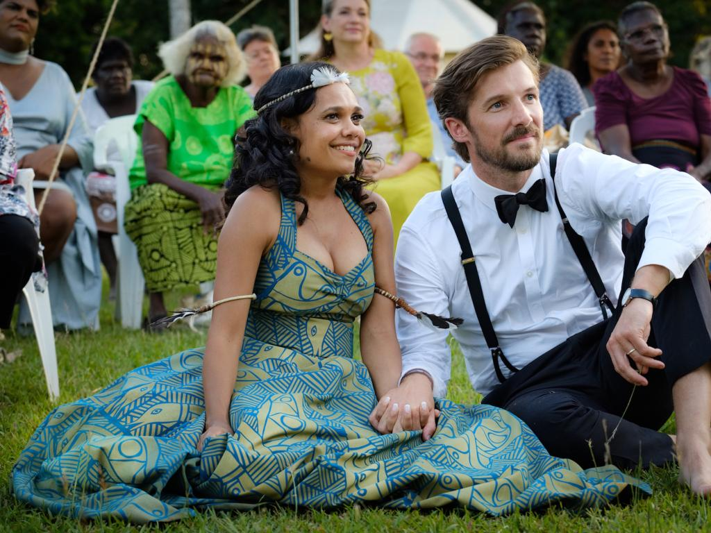 Miranda Tapsell and Gwilym Lee in Top End Wedding.