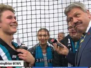 AFL stud's schoolgirl girlfriend shocks Seven star