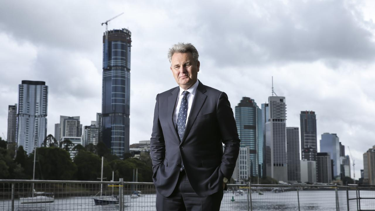 Bernard Salt said a decision not to proceed with Adani is less devastating for a region than a decision to close a major employing entity. Pic Mark Cranitch.
