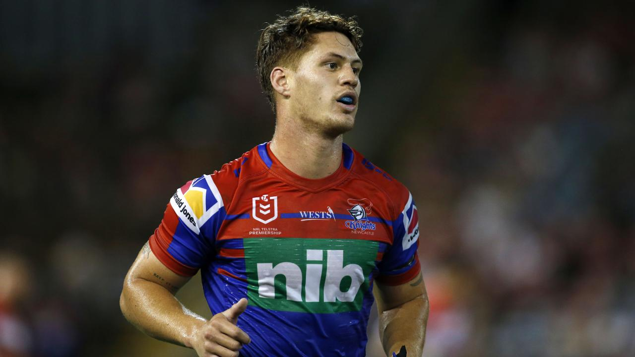 Kalyn Ponga's stint at five-eighth was short. Picture: Darren Pateman/AAP