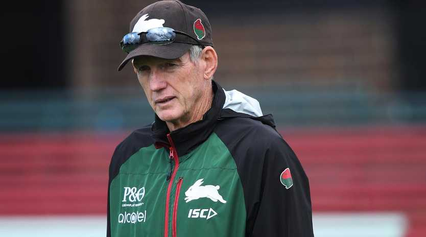 Wayne Bennett is biting his tongue. Picture: Phil Hillyard