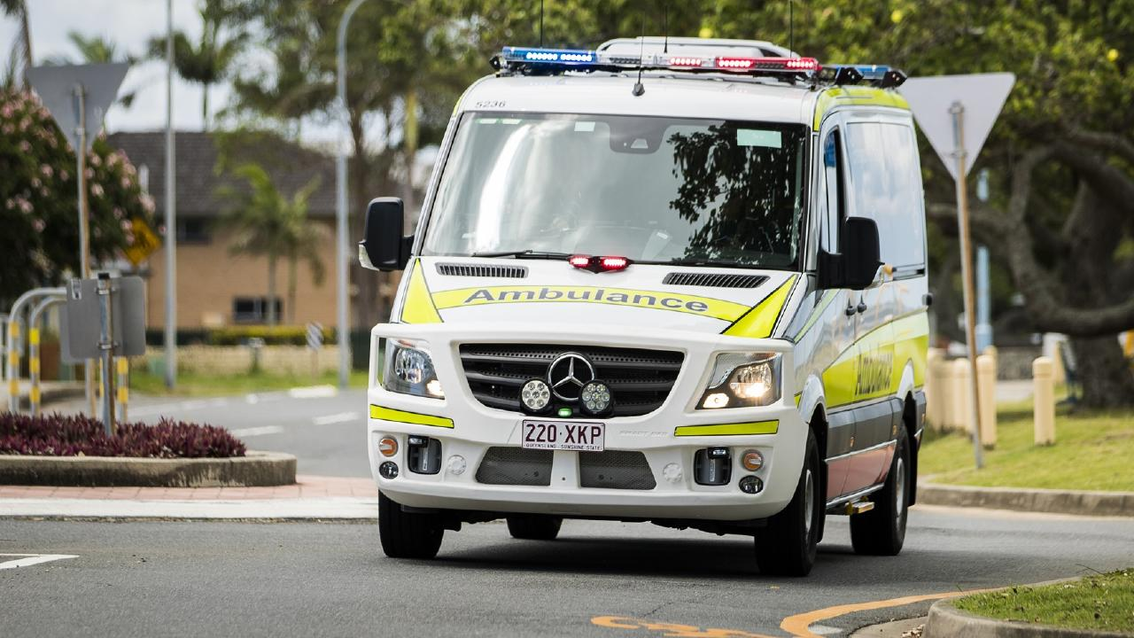 Queensland Ambulance Service were called to the scene at Chambers Flat Road in Park Ridge just before 10am this morning. Picture: file image