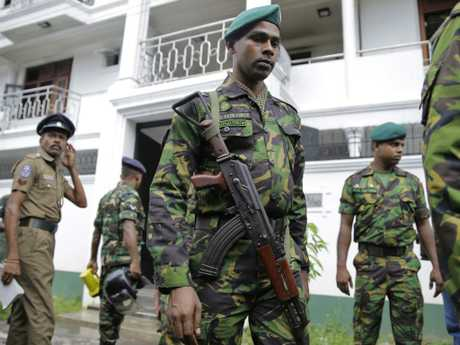 Sri Lankan security forces officers were locked in an intense gunfight with militants on Friday evening.