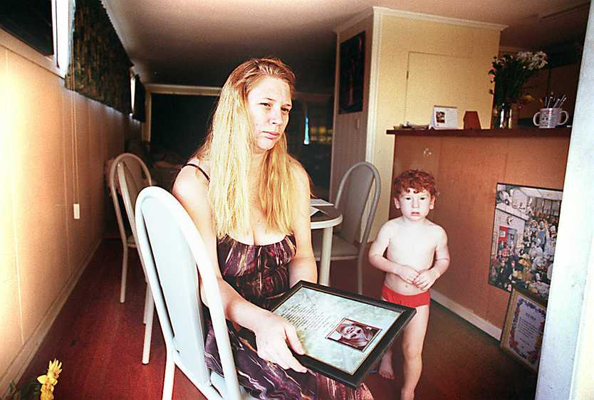 Treasa Steinhardt with son Conner spoke to The Morning Bulletin in early 2000 ahead of Leonard John Fraser's trial for Keyra's murder. She was struggling to afford travel and accommodation to Brisbane for the four-week trial.