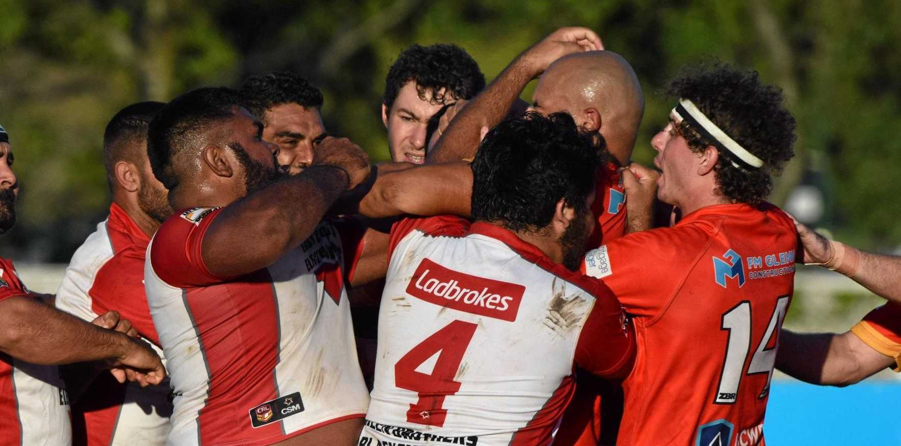 FIGHT NIGHT: The Coffs Harbour Comets v South Grafton Rebels game had to be stopped early after numerous fights broke out and players were sent from the field.