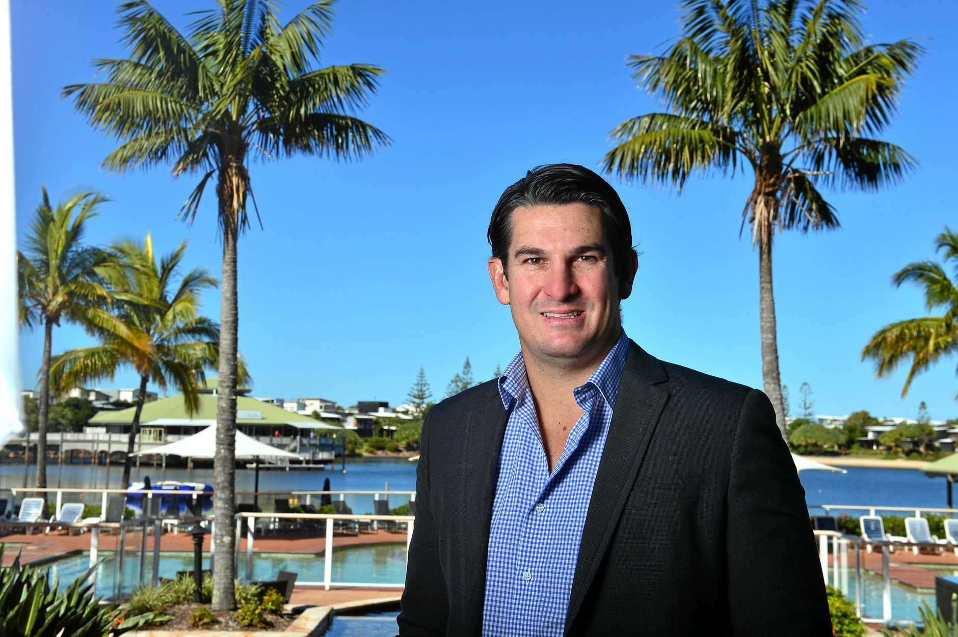 Chris Flannery at Novotel Twin Waters.  Photo: John McCutcheon / Sunshine Coast Daily