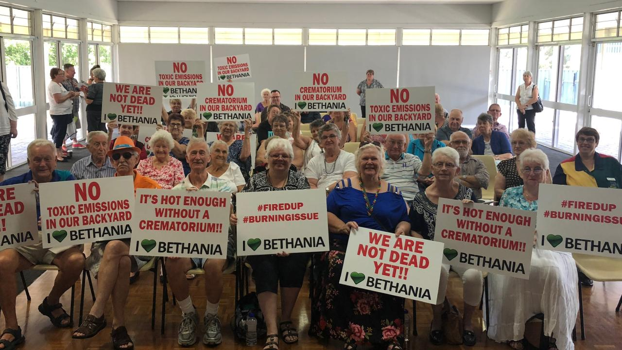 Bethania residents have complained about an approved crematorium being built neat to their homes.