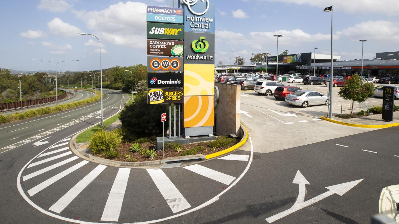 Holmview Shopping Centre has plans before council for an extension which includes cinemas. AAP/Renae Droop