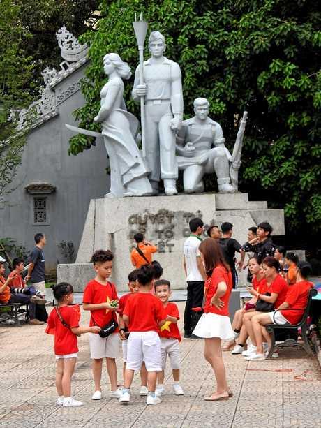 Children enjoy national day celebrations in Hanoi.