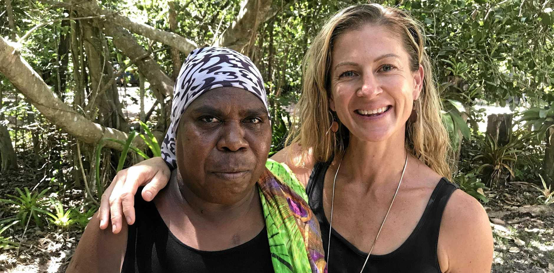 Kirsten Sweeney (right) recently volunteered in the Northern Territory to help educate Indigenous Australian on healthy diet and lifestyle.
