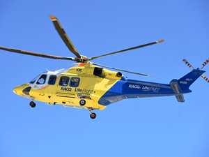 Motorbike rider winched to safety after hinterland crash