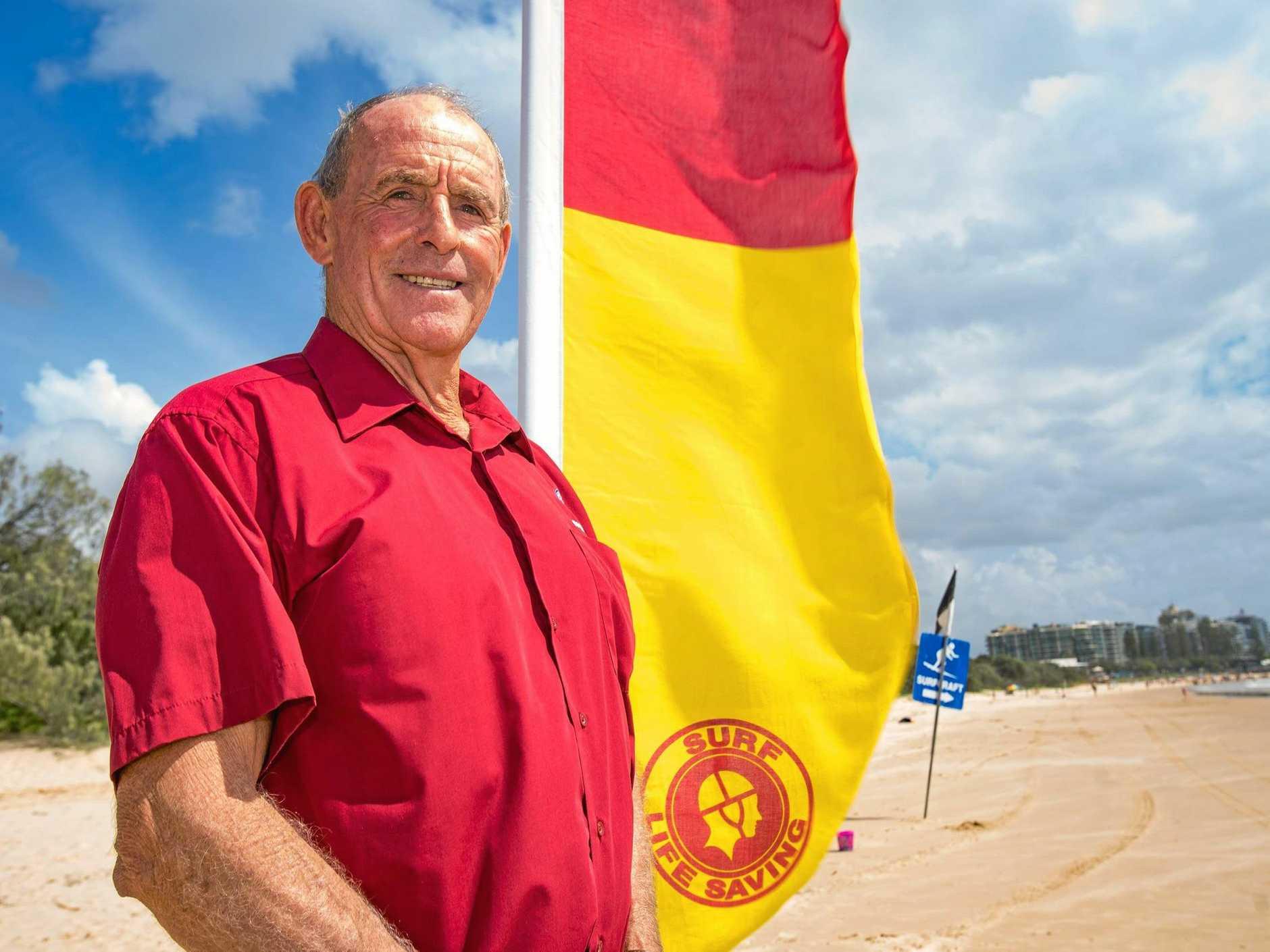 WATCHFUL: Surf Life Saving Queensland's Sunshine Coast branch president John Thorpe keeps an eye on the beach.