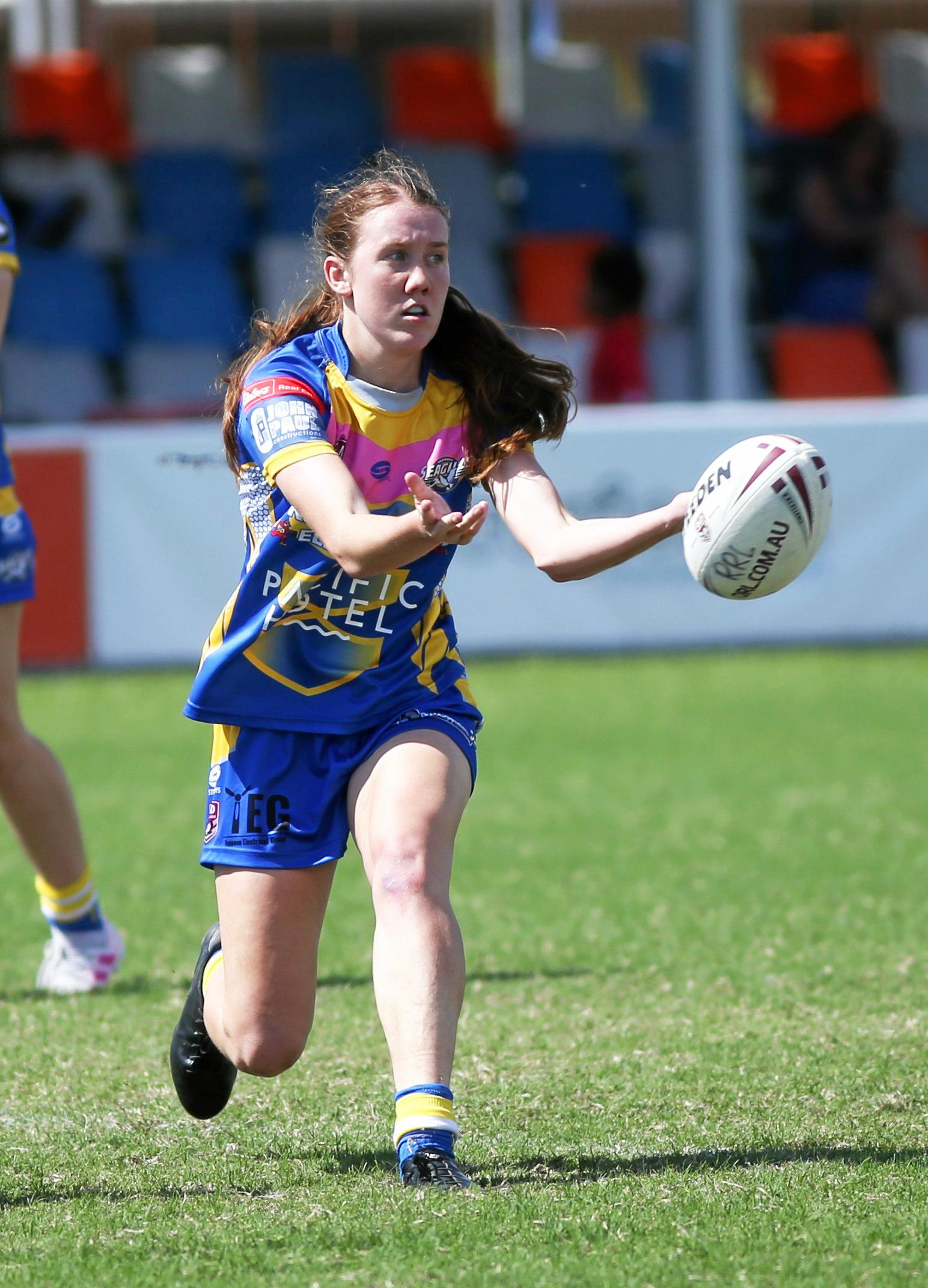 Rugby league: Yeppoon's Tamika Upton.