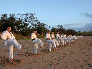 Karate camp pushes local students to their limit