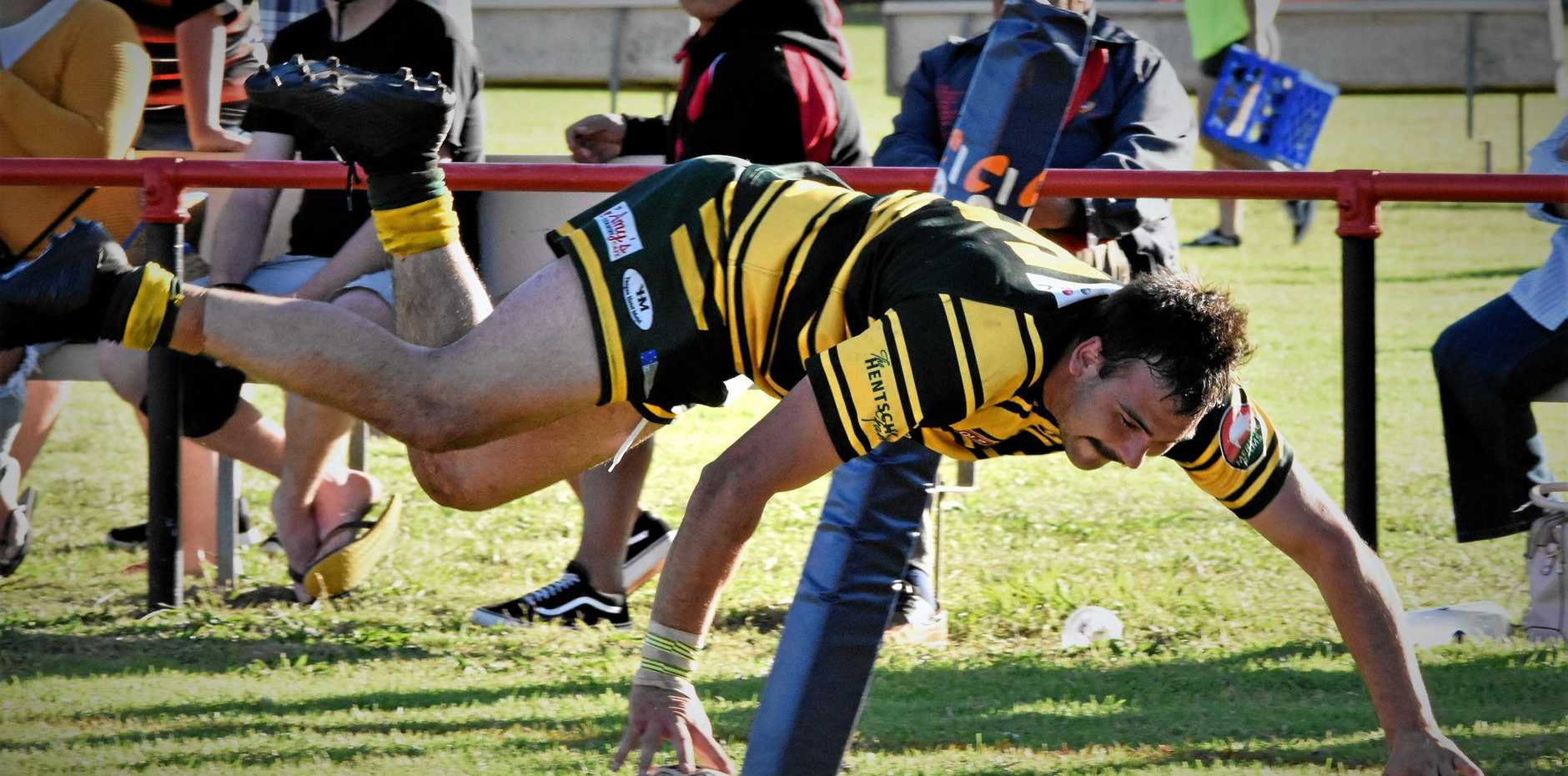Braydon Wilson scored three tries for Wattles on Sunday against Valleys.